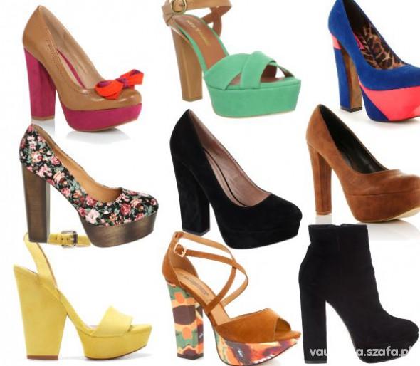 Obuwie szukam butów na grubym obcasie 37