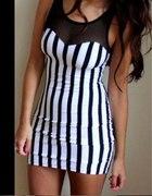 sukienka pionowe paski H&M
