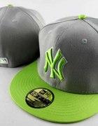 full cap czapka New Era szaro zielona...