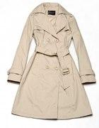 Elegancki klasyczny płaszcz M 38 trencz