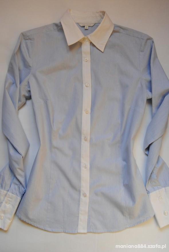 Koszula Błękitna Kołnierzyk Mankiety...
