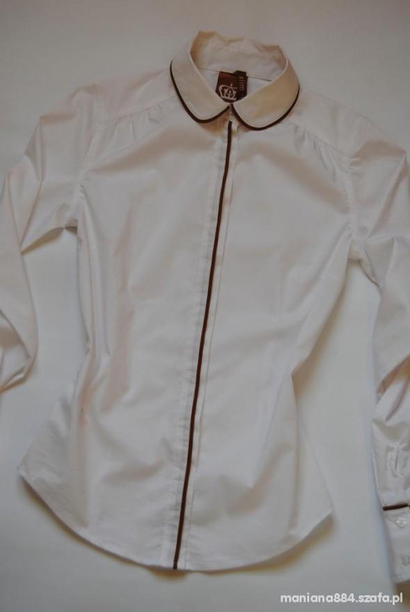 Koszula Kołnierzyk Mankiety Camel