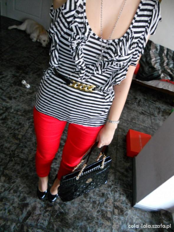 Mój styl czerwone rurki plus