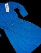 SIMPLE chabrowa kobaltowa sukienka...