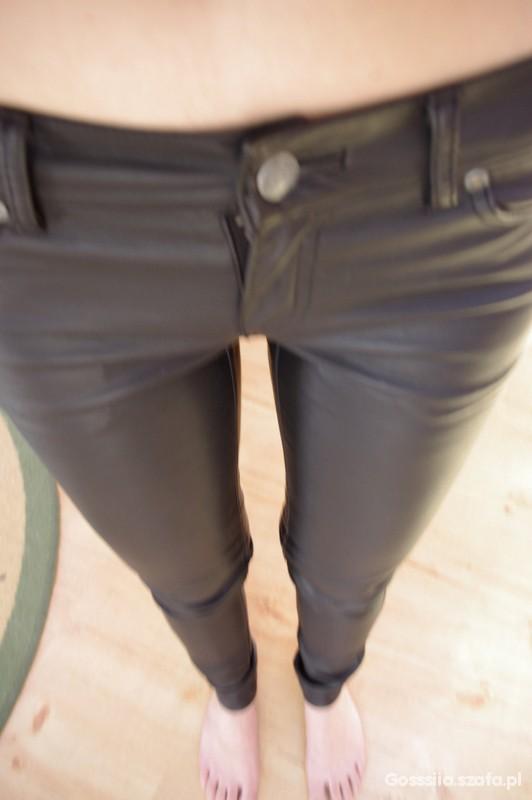 Spodnie spodnie skinny skorzane 34