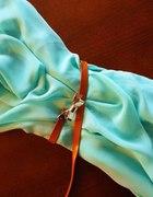 Miętowa sukieneczka mini