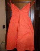 Oranżowa sukienka