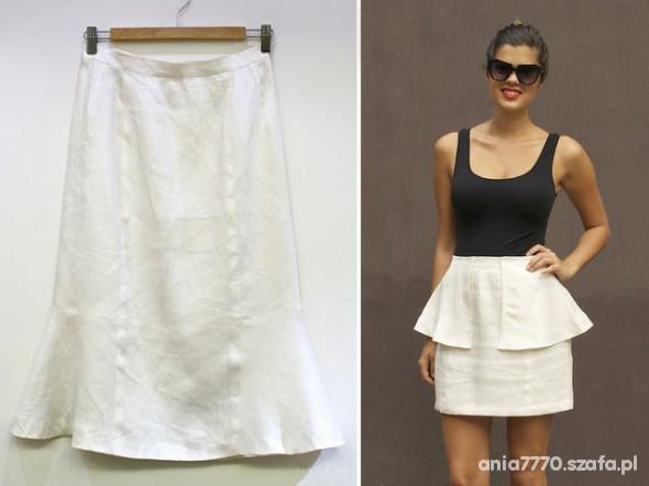 Eleganckie before after czyli biała spódnica