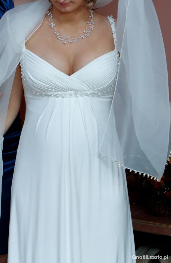 Suknia ślubna Typu Empire Mmoże Być Ciążowa W Suknie ślubne Szafapl