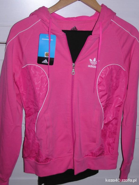 Różowy dres adidas L