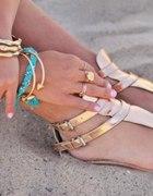 Zlote sandalki