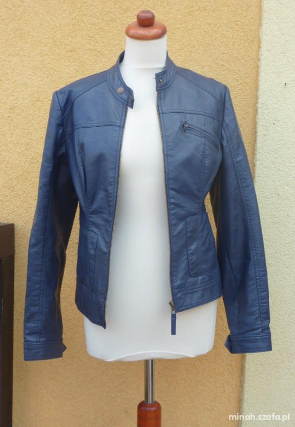 30ab651e110b8 Skórzana kurtka Orsay 36 niebieska w Odzież wierzchnia - Szafa.pl