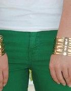 Szeroka złota bransoleta