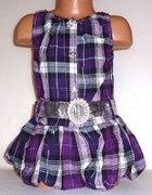 Śliczna sukienka tunika w kratę rozmiar 104...