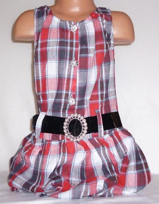 Sukienki i spódniczki Śliczna sukienka tunika w kratę rozmiar 104 110