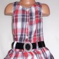 Śliczna sukienka tunika w kratę rozmiar 104 110