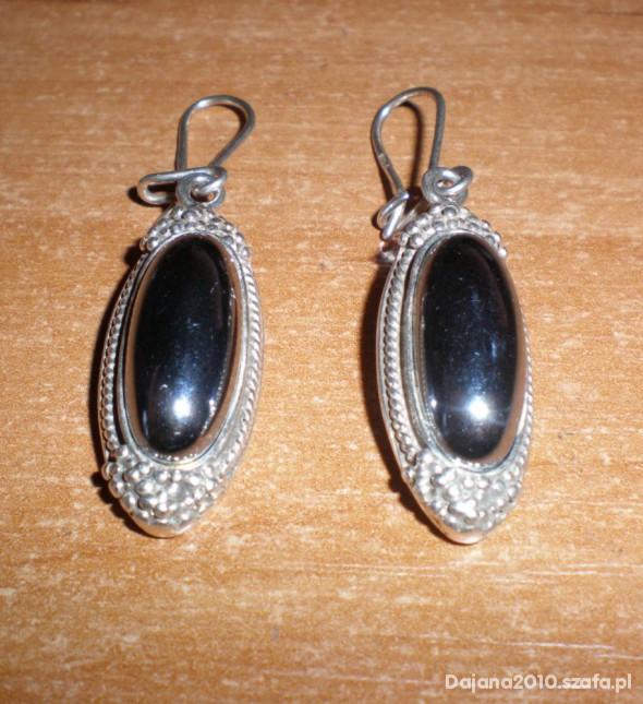 Kolczyki Cudeńka z hematytem srebro 925