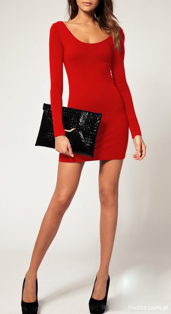 926c7f1d2d Czerwona sexi sukienka tunika NOWA w Suknie i sukienki - Szafa.pl