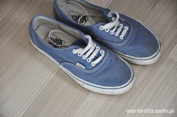 vans navy 40 niebieskie...
