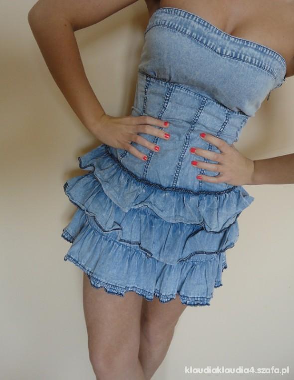 jeansowa falbanki