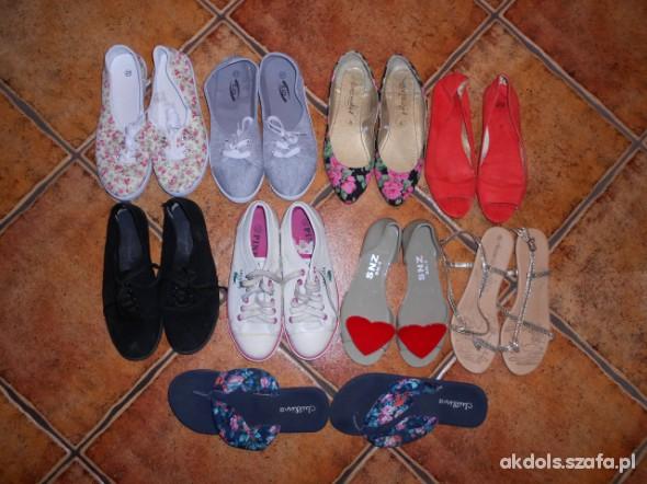 Balerinki moja kolekcja obuwia płaskiego tzw cichobiegów