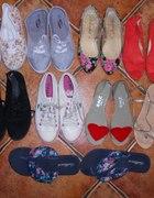 moja kolekcja obuwia płaskiego tzw cichobiegów