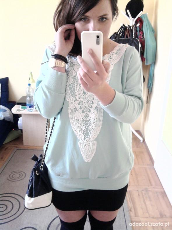 Mój styl miętowa bluza