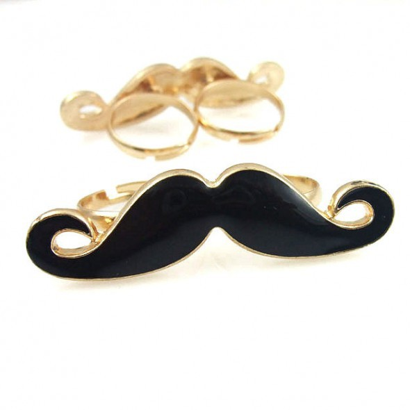 Pierścionki PIerścionek wąsy