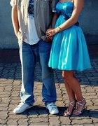 Niebieska księżniczkowa sukienka...