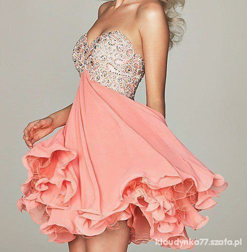 Sukienka Forever unique pudrowy róż...