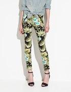 spodnie print kwiaty ZARA TRF rozmiar 36