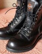 worker boots Harley Davidson skórzane
