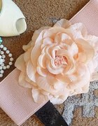 tally weijl gruby pudrowy z kwiatem