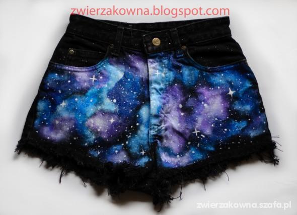 Spodenki Spodnie galaxy kosmos