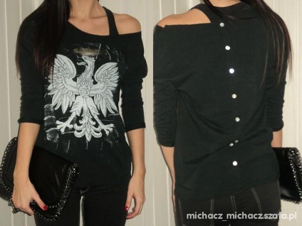 czarna bluzeczka z orłem