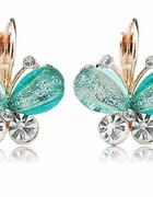 Kolczyki motylki turkus