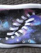 Malowane trampki GALAKTYKA galaxy