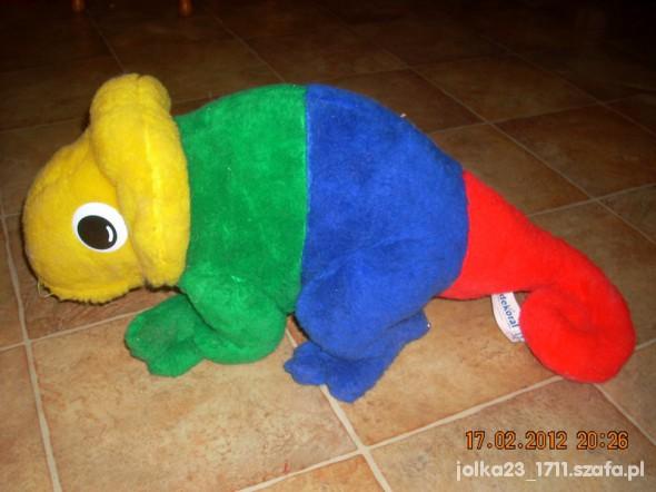 Zabawki ogromna maskotka kameleon Leon 58cm