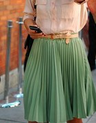 zielona spódniczka plisowana