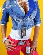 krótka katanka jeans Fashion Caroline