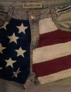 Malowane Spodenki DIY flaga USA