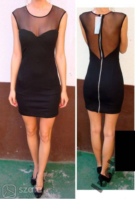 sukienka zip siateczka