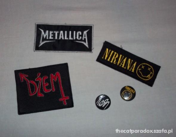 Pozostałe Naszywki przypinki Nirvana Metallica Dżem Korn