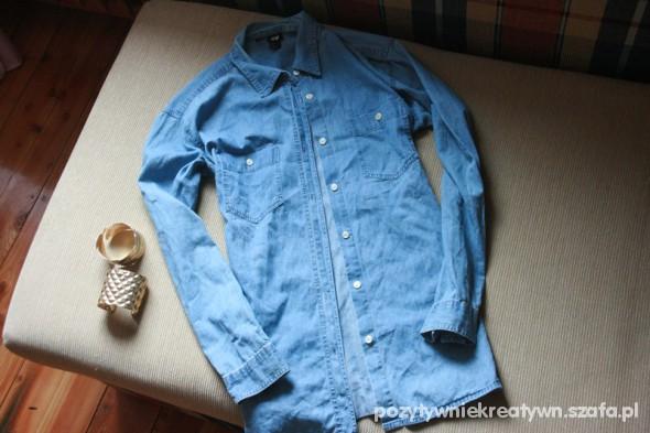Koszula Jeansowa H&M długa stylowa 38