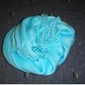 Piękna błękitna apaszka