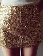 Złota spódniczka z cekinami