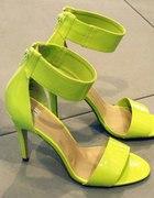 Żółte sandały h&m