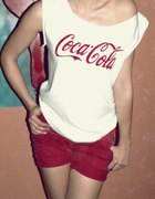 Tshirt koszulka handmade malowana Coca cola S