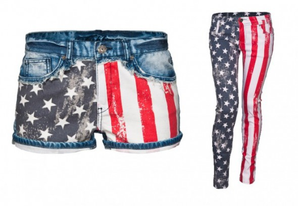 Spodnie z flagą USA...