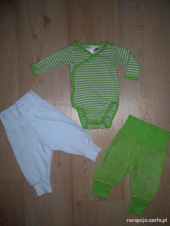 Komplety h&m body i dwie pary spodni